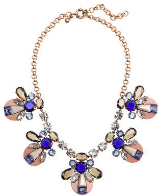 J.Crew Mixed crystal and resin necklace