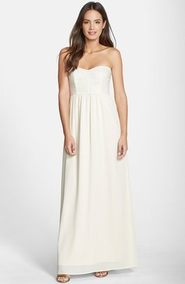 Paper Crown by Lauren Conrad 'Breanna' Lace Bodice Crepe Gown $275 thestylecure.com