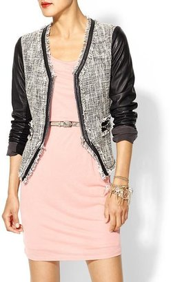 Rebecca Taylor Tweed & Leather Jacket