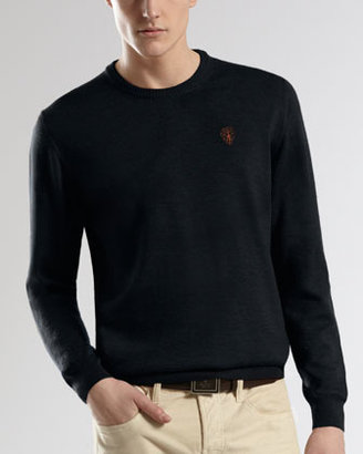 Gucci Embroidered-Crest Classic Sweater