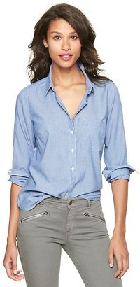 Gap New tailored chambray shirt