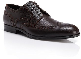 HUGO BOSS 'Phillon' | Textured Leather Wingtip Oxfords by BOSS