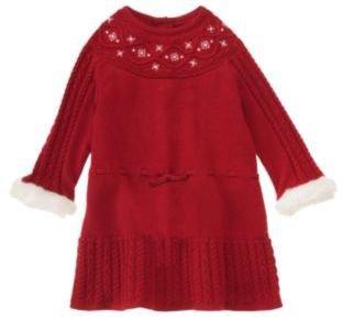 Janie and Jack Snowflake Sweater Dress