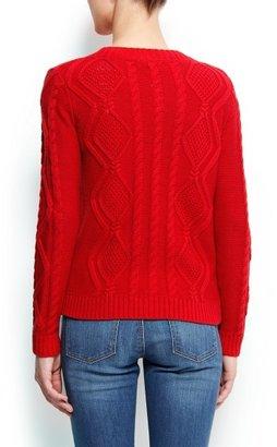 MANGO Cable knit cotton cardigan