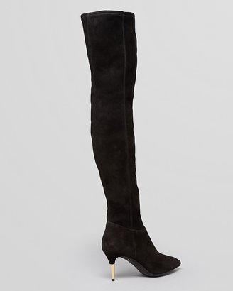 Brian Atwood Pointed Toe Over The Knee Boots - Mazzarine High Heel