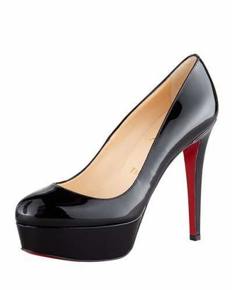 Christian Louboutin Bianca Patent Leather Platform Red Sole Pump $875 thestylecure.com