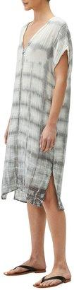 Michael Stars Louie Printed V-Neck Gauze Dress