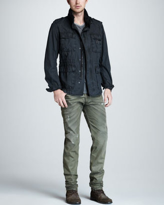 Diesel Belther Beige DNA Distressed Whiskered Jeans