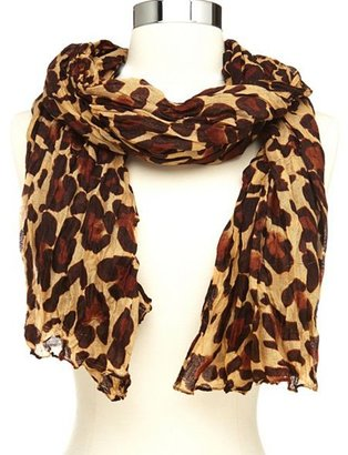 Charlotte Russe Woven Leopard Print Infinity Scarf