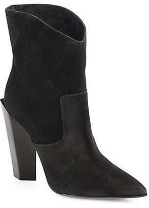 Fendi Suede Western Ankle Boots