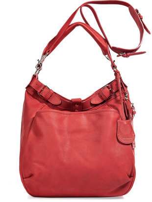 Vanessa Bruno Vermillon Leather Hobo with Shoulder Strap