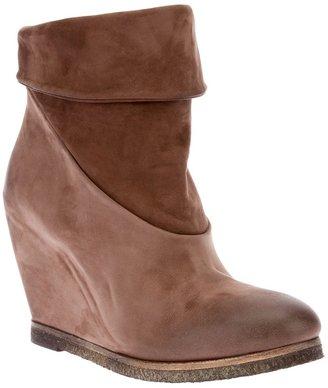 Elisanero Elisa Nero wedge ankle boot