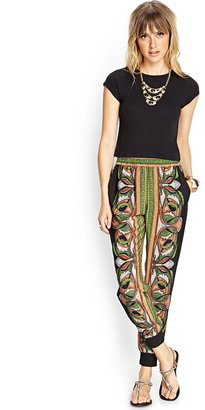 Forever 21 Serpentine Woven Joggers