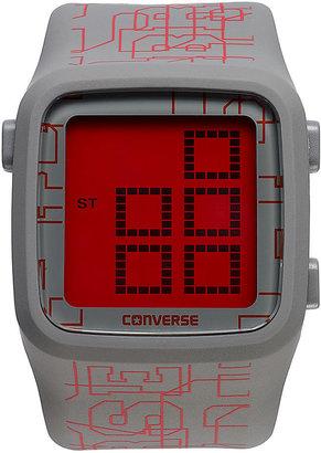 Converse Watch, Unisex Digital Scoreboard Printed Logo Gray Silicone Strap 43mm VR002-065