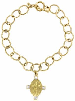 Cathy Waterman Diamond Juggler on Large Lacy Chain Bracelet