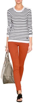 Burberry Cotton-Stretch Coated Jeans in Bright Orange