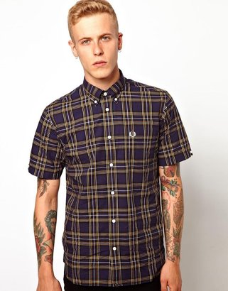 Fred Perry Short Sleeved Classic Plaid Shirt