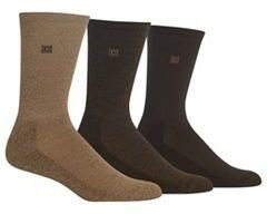 Men's Chaps 3-pk. Cushioned-Sole Ribbed Socks $18 thestylecure.com