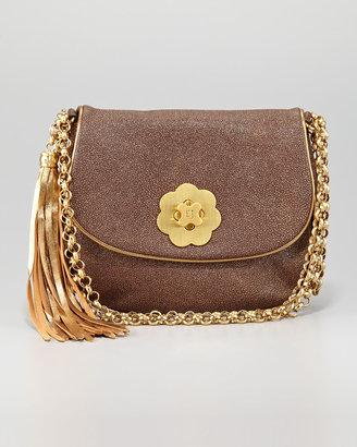 Eric Javits Oh Baby Shoulder Bag, Bronze Glitter