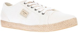 Dolce & Gabbana contrast lace-up sneaker