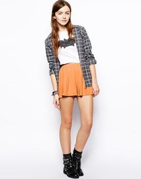 Asos Culotte Shorts - Orange