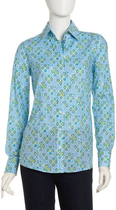 Robert Graham Darby Printed Shirt, Blue