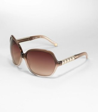 Tory Burch Oversized Square Sunglasses With Studded Detail