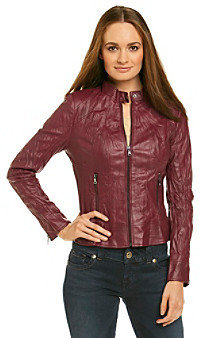 GUESS Perforated Crinkle Scuba Jacket