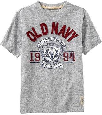 Old Navy Boys Graphic Applique-Crew Tees