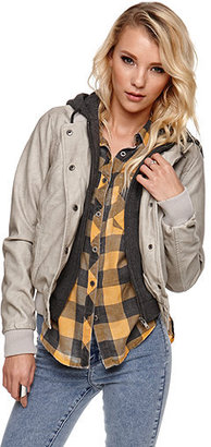 LA Hearts Fleece Lined Faux Leather Jacket