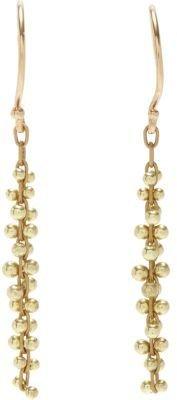 Ten Thousand Things Gold Short Beaded Cluster Earrings