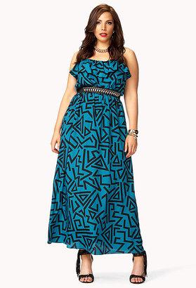 Forever 21 Retro Geo Maxi Dress