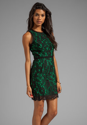 Milly Floral Scalloped Lace Claudia Dress