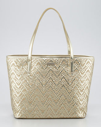 Kate Spade Bayside Park Small Coal Tote, Pale Gold