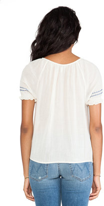 Joie Dolina C Embroidered Crepe Blouse