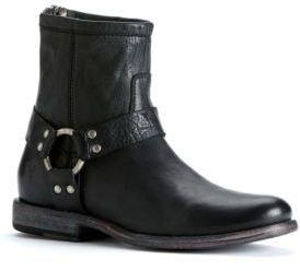 Frye Phillip Harness Short Vintage Leather Boot
