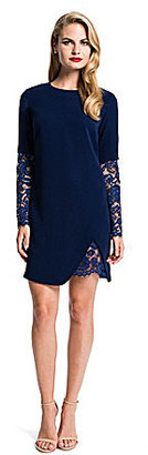 Cynthia Steffe Jolie Crepe & Lace Dress