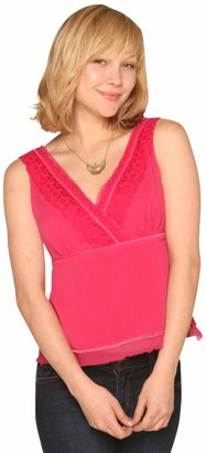 Studio Hot Pink Lace Top