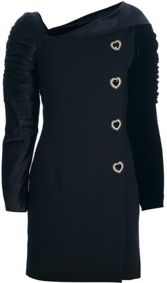 Versace Pre-Owned Structured Buttoned Dress