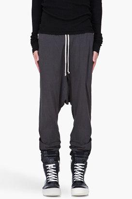 Rick Owens Dark Grey Drawstring Harem Pants