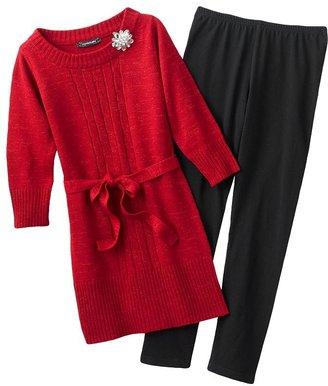My Michelle glitter tunic sweater and leggings set - girls 7-16