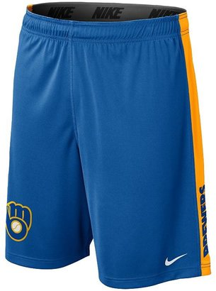 Nike milwaukee brewers fly dri-fit shorts - men