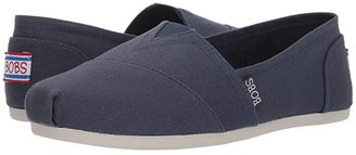 BOBS from SKECHERS Bobs Plush - Peace Love (Dark Navy) Women's Flat Shoes