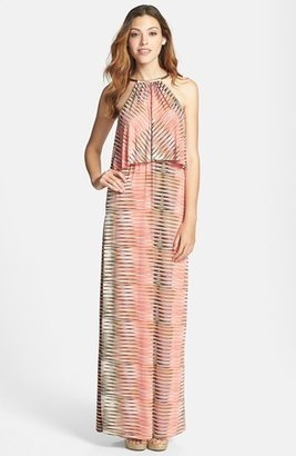 T-Bags Tbags Los Angeles Print Maxi Dress
