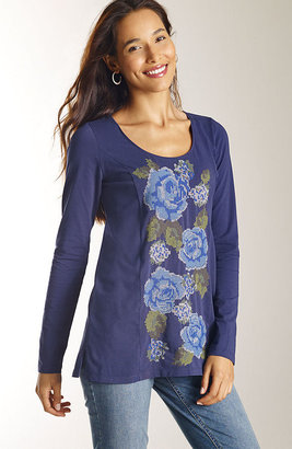 J. Jill Embroidered floral tee