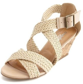 Charlotte Russe Braided X-Front Wedge Sandal