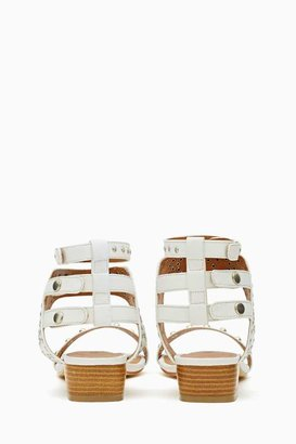 Nasty Gal Shoe Cult Nymph Studded Sandal - White