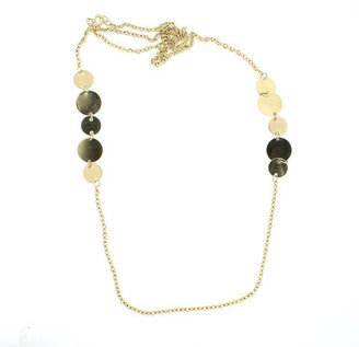 Lanie Lynn Vintage Jewelry Gold Disk Necklace