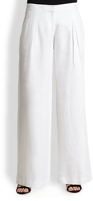 MICHAEL Michael Kors Wide-Leg Linen Pants