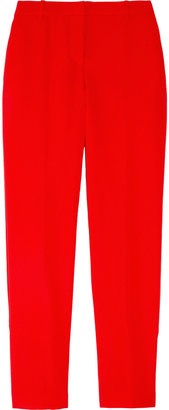 Versace Stretch-crepe cropped pants